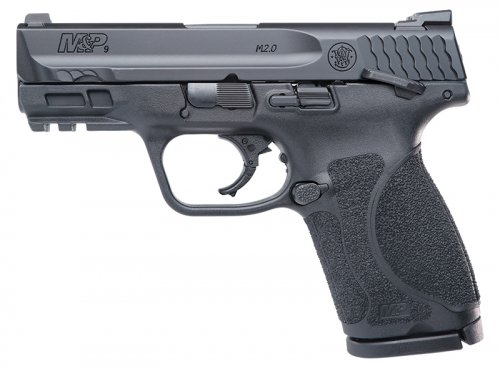 """Smith & Wesson - M&P 2.0 Compact 9mm 3.6\"""" Black Thumb Safety 15rd"""